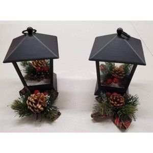 2-Pack Indoor Outdoor LED Flickering Star Lanterns